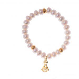 Pulsera Virgen de los Llanos, perlas