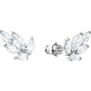 Pendiente Swarovski, Louison, elaborada cristales que simulan pequeñas hojas. Con un baño de rodio. 5446025. lubeljoyeria.com