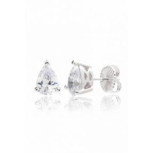 Pendiente Lubel, Langeais circonitas. Fabricado en plata con un baño de rodio, paladio y platino. lubeljoyeria.com
