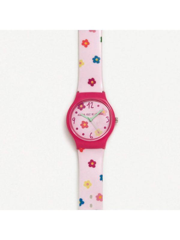 Reloj Agatha Ruiz de la Prada, Flores Rosa. AGR229. lubeljoyeria.com