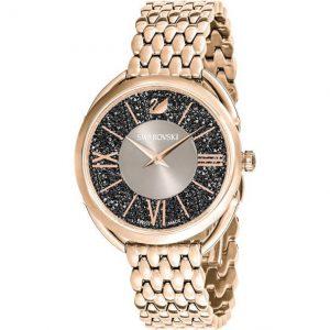 Reloj Crystalline Glam, Brazalete de Metal, Gris 54552462. Lubeljoyeria.com