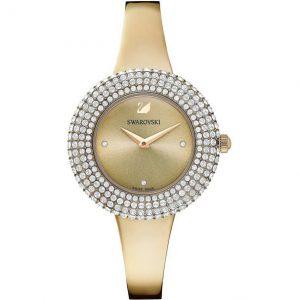 Reloj Swarovski, Crystal Rose, brazalete de metal dorado, PVD en Champán. 5484045. Lubeljoyeria.com