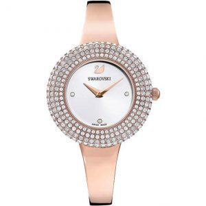 Reloj Swarovski, Crystal Rose, brazalete de metal, PVD en oro rosa. 5484073. Lubeljoyeria.com