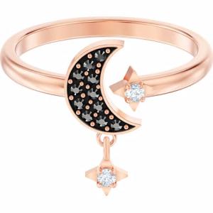 Anillo Swarovski, Symbolic Moon con baño de oro rosa y cristales de colores. 5515667. Lubeljoyeria.com