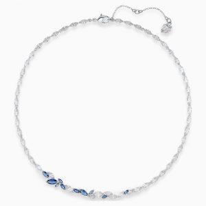 Collar swarovski, luison en azul con cristal en azul. 5536547. www.lubeljoyeria.com