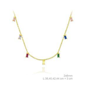 Colgante Lubel, Destello Colores. Fabricado en Plata de 1ª Ley con un baño oro de 18k. 7002067. www.lubeljoyeria.com