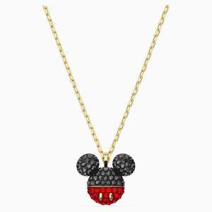 Colgante Swarovski, Mickey. Fabricado concristales negros y rojos y un baño de oro. 5559176. www.lubeljoyeria.com