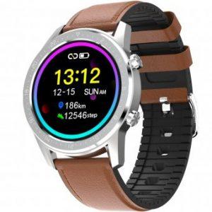 Reloj, Duward, SmartWatch Dsw001. Con correa de piel marron y silicona. DSW001.11. www.lubeljoyeria.com